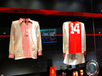 Ajax shirts in Ajax Experience in Amsterdam
